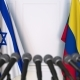 Flags of Israel and Colombia at International Press Conference - VideoHive Item for Sale