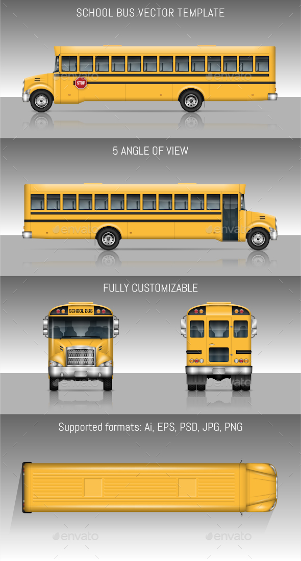 School Bus - Man-made Objects Objects