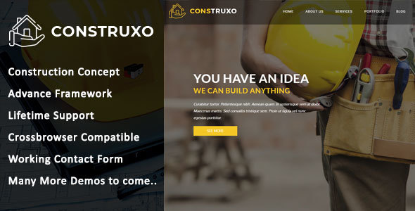 Construxo - Construction HTML Template - Corporate Site Templates