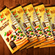 Trifold A4 Italian Menu Brochure vol.1