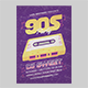 90s Party Flyer Template - GraphicRiver Item for Sale
