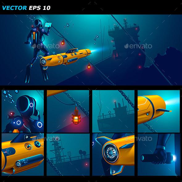 Underwater Autonomous Robot Exploration Sea Floor - Communications Technology