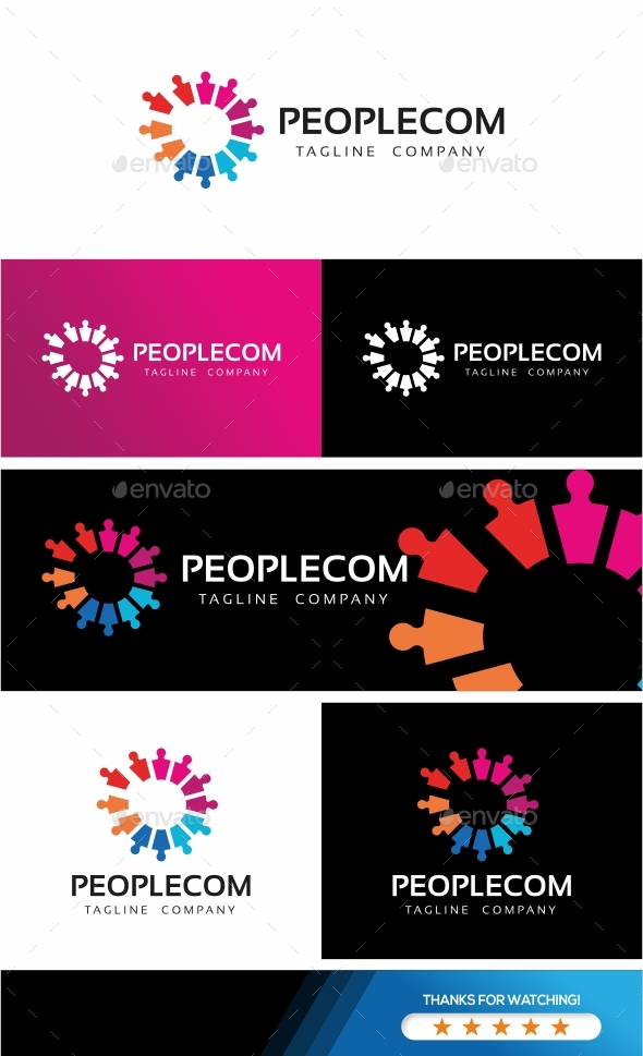 People Community Logo - Humans Logo Templates