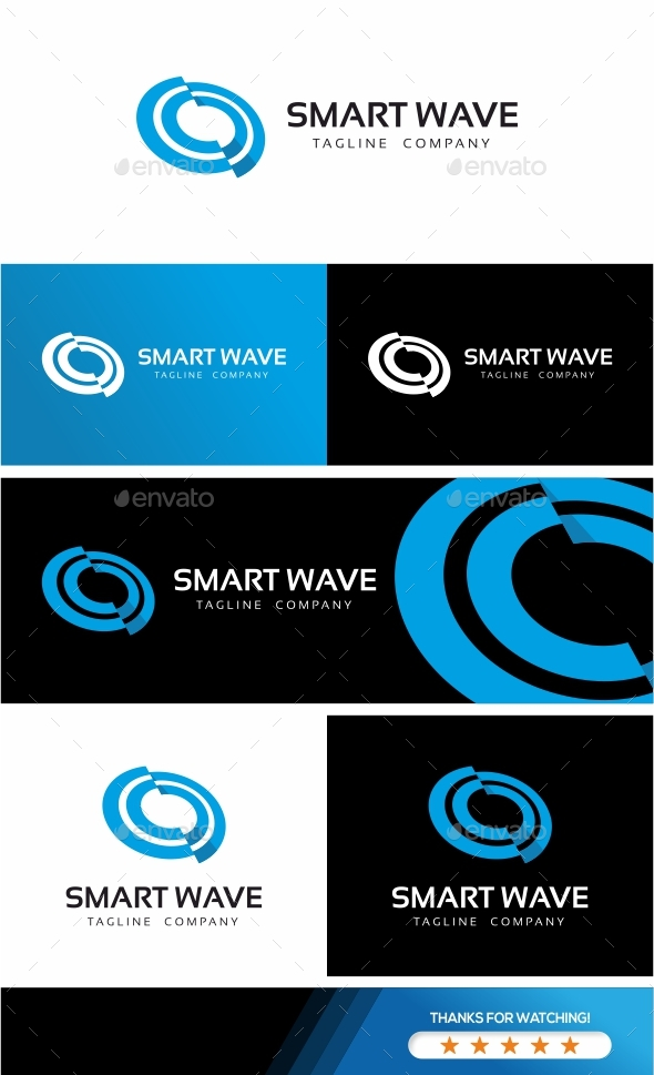 Smart Wave Logo Template - Objects Logo Templates