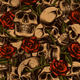 Skulls and Roses Seamless Background - GraphicRiver Item for Sale