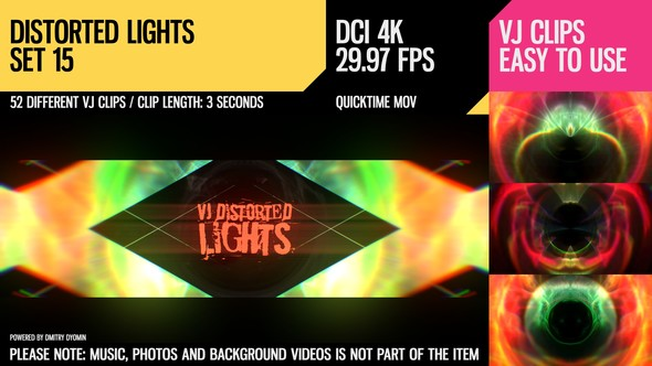 VJ Distorted Lights (4K Set 15) - 19404653