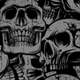 Seamless background with Skulls - GraphicRiver Item for Sale