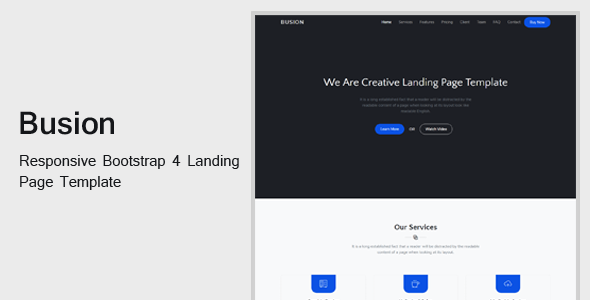 Image of Busion - Responsive Bootstrap 4 Landing Template