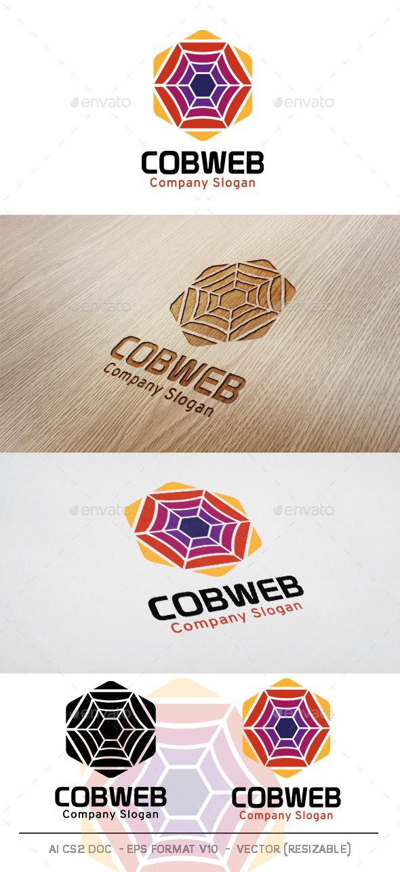 Cobweb Hexagon Logo - Abstract Logo Templates