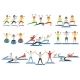 Set of People Working Out in Gym. - GraphicRiver Item for Sale
