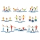 Set of Sports People in Gym. - GraphicRiver Item for Sale