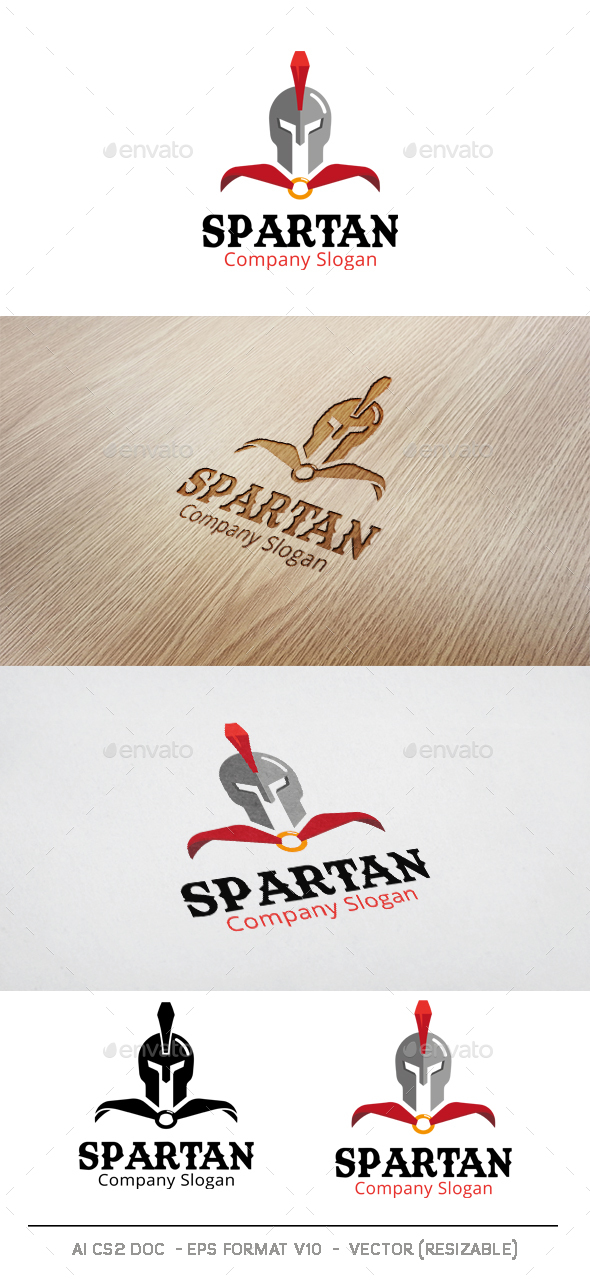 Spartan Warrior Logo - Humans Logo Templates