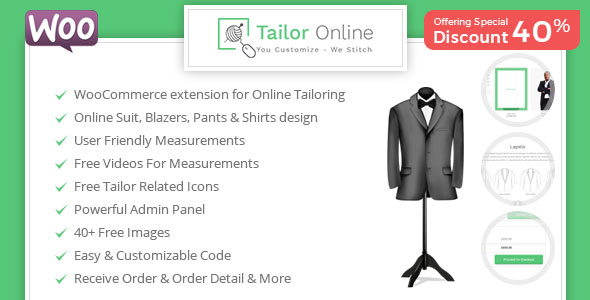 Tailor Online - WooCommerce Plugin for Online Custom Tailoring - CodeCanyon Item for Sale
