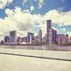 Manhattan skyline seen from the Roosevelt Island, NYC. - PhotoDune Item for Sale