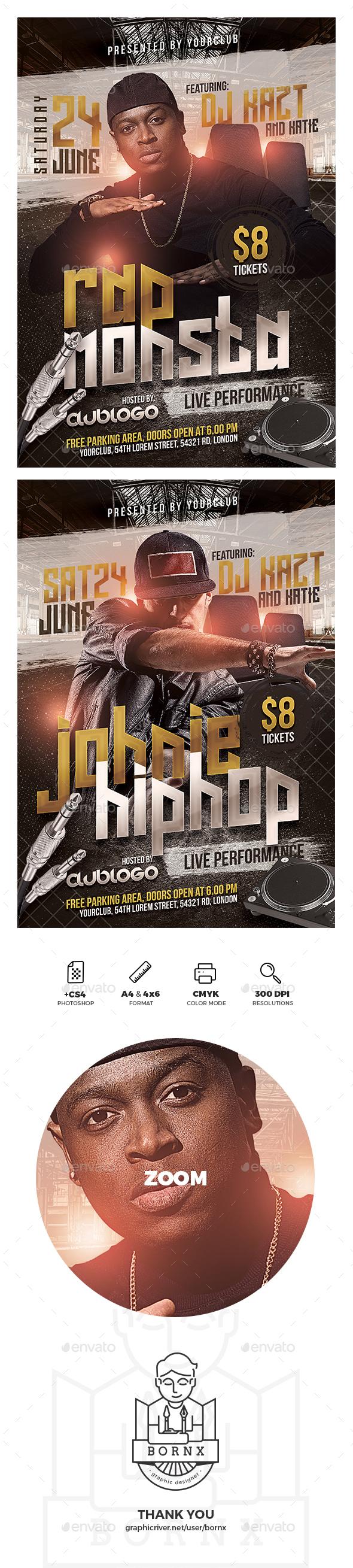 Rap Music Flyer - Concerts Events