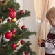 Portrait of a Little Boy Near a Christmas Tree - VideoHive Item for Sale