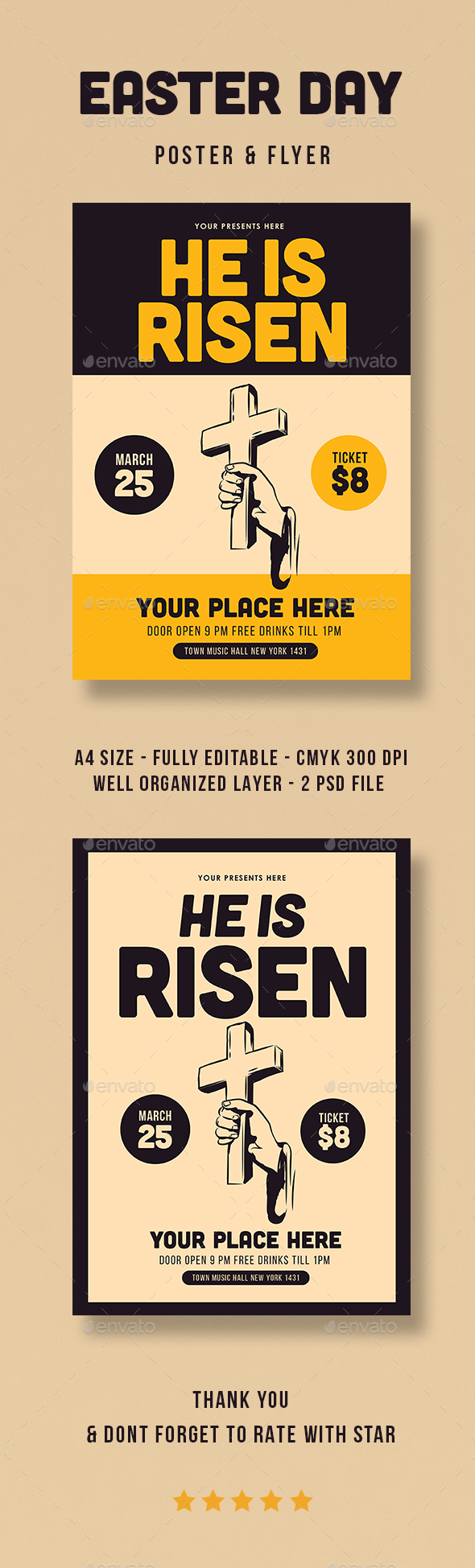 Easter Day Flyer - Flyers Print Templates