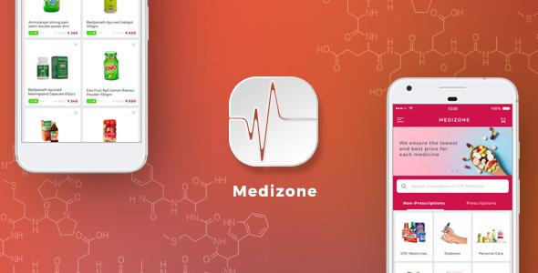 Online Medicine pharmaceutical e-commerce App Template | IONIC 3 | Medizone - CodeCanyon Item for Sale