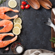 Raw salmon fish fillet and dorado - PhotoDune Item for Sale