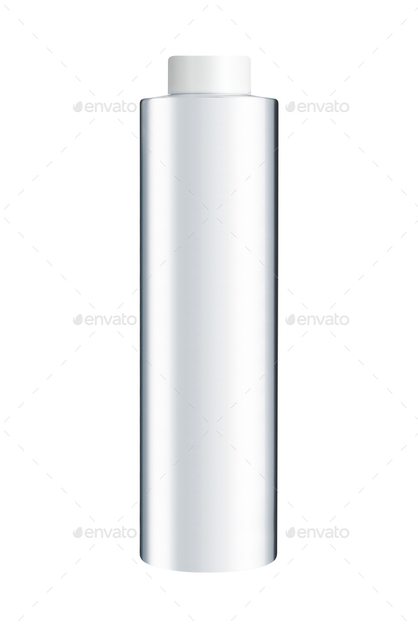White plastic bottle on a white background - Stock Photo - Images