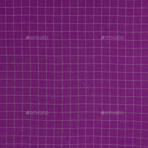 Purple checkered fabric background - Stock Photo - Images