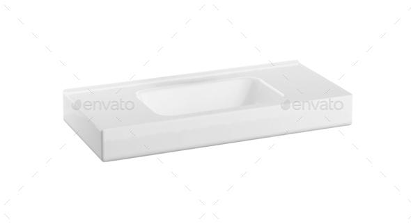 modern wash basin isolated - Stock Photo - Images