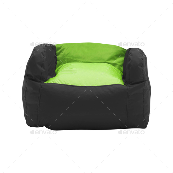 soft leather beanbag - Stock Photo - Images