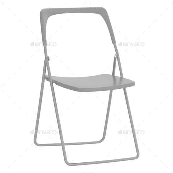 folding chair isolated on white - Stock Photo - Images