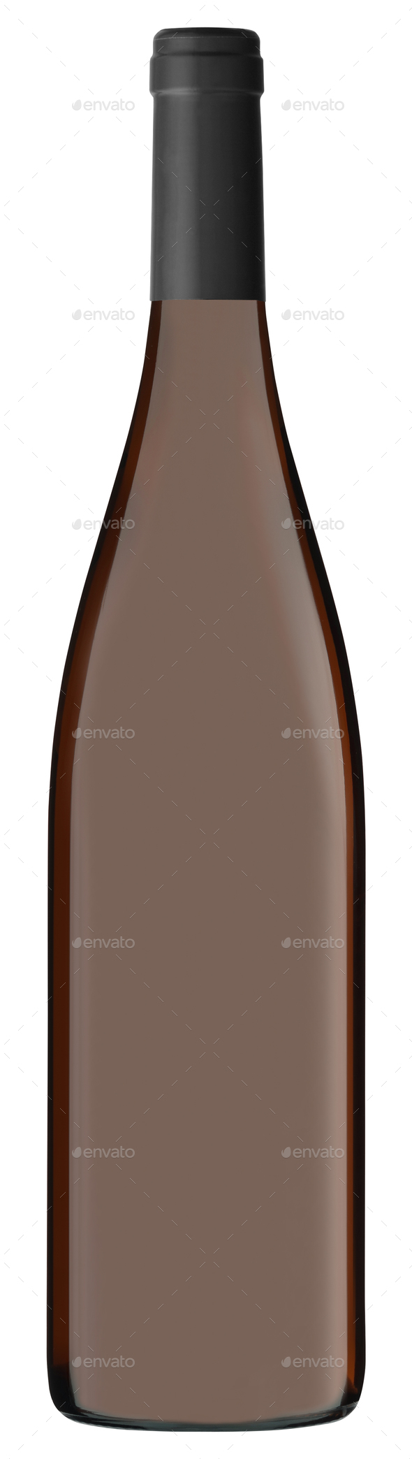 Champagne bottle on white background - Stock Photo - Images