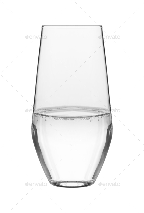 water glass isolated - Stock Photo - Images