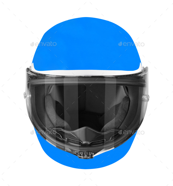motorcycle helmet isolated on white - Stock Photo - Images