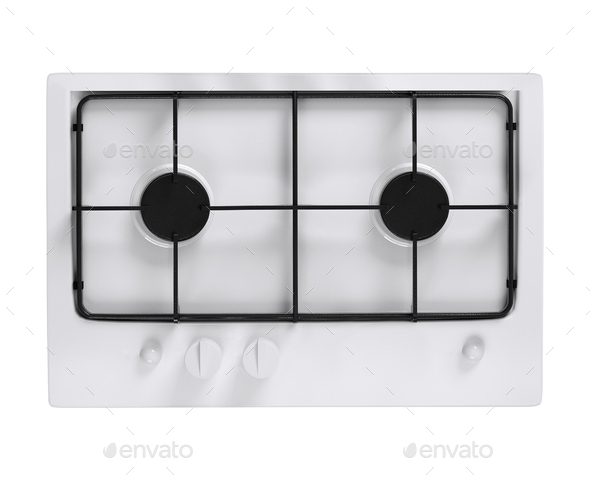 Dual oven isolated on white - Stock Photo - Images