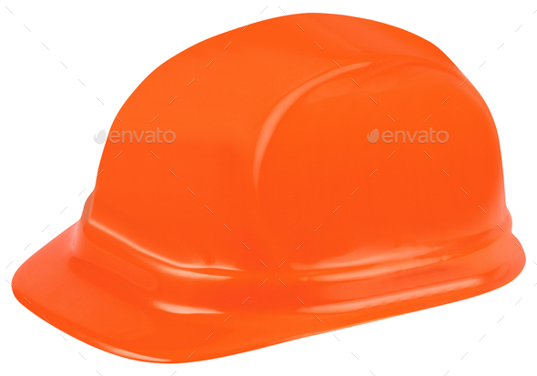 Construction helmet on white background - Stock Photo - Images
