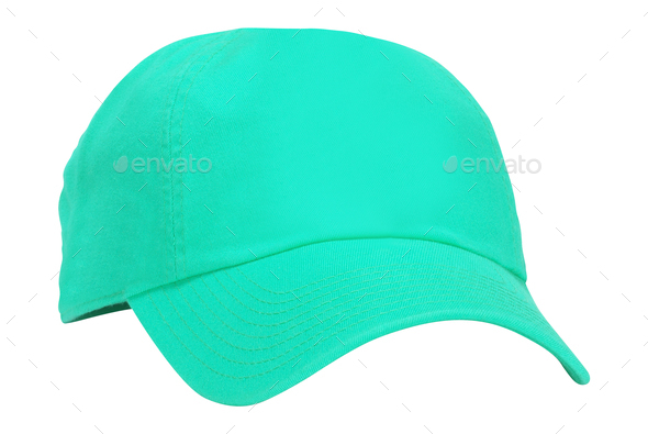 Green cap isolated on white - Stock Photo - Images