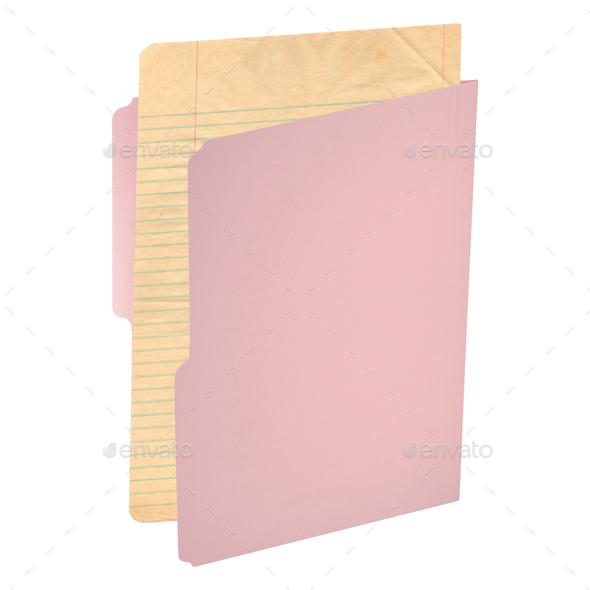 folder for documents isolated on white - Stock Photo - Images