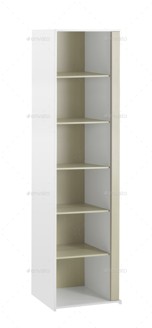 wooden cabinet isolated on white background - Stock Photo - Images