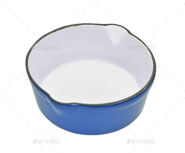 Vintage enameled metal bowl - Stock Photo - Images