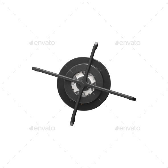 gas burner isolated on white - Stock Photo - Images