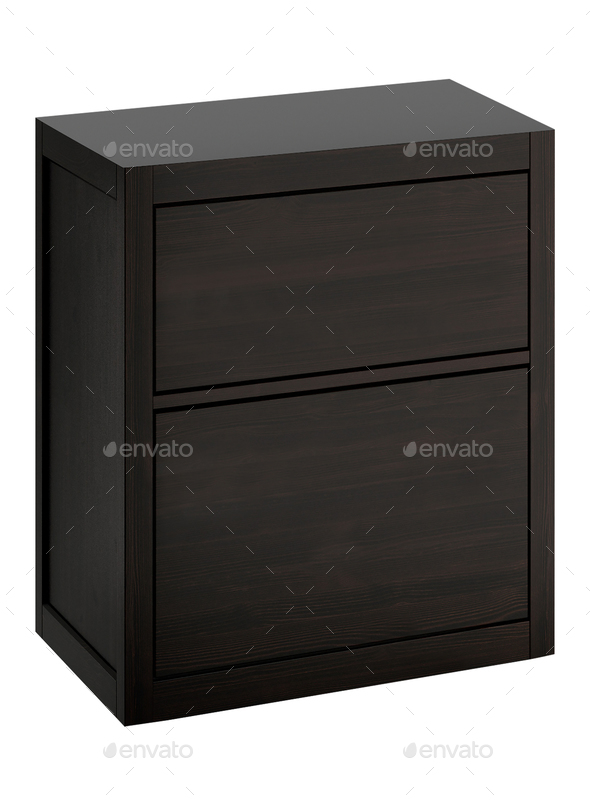 small cabinet isolated - Stock Photo - Images