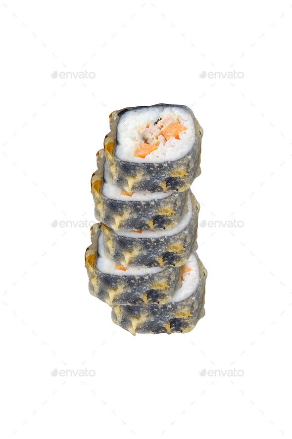 Sushi rolls isolated on white - Stock Photo - Images