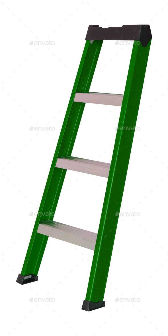 ladder isolated on white - Stock Photo - Images
