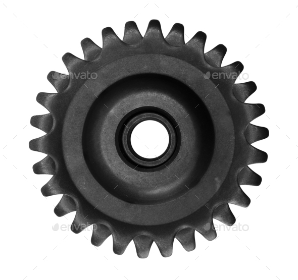 gear isolated on white - Stock Photo - Images