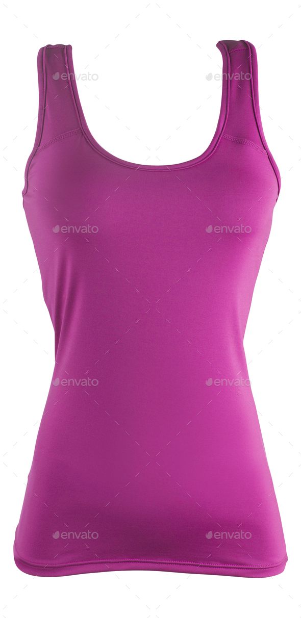 pink sleeveless sports top isolated on white - Stock Photo - Images