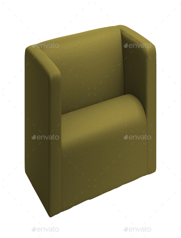 Modern chair isolated on white - Stock Photo - Images