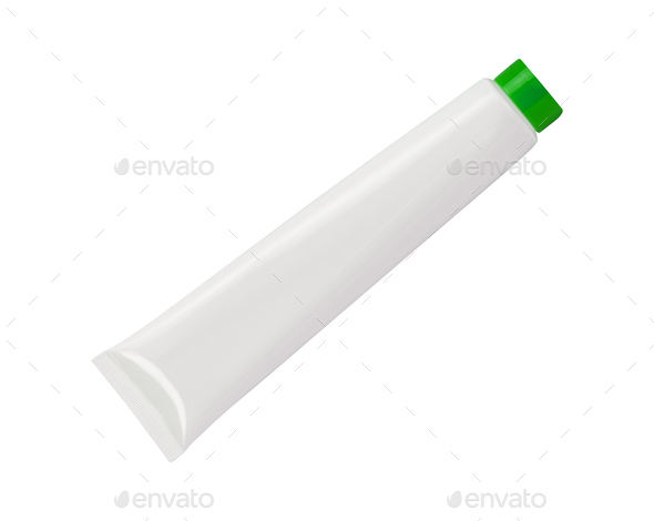 plastic tube for cosmetics - Stock Photo - Images
