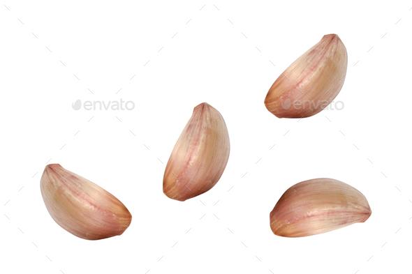Garlic isolated on white - Stock Photo - Images