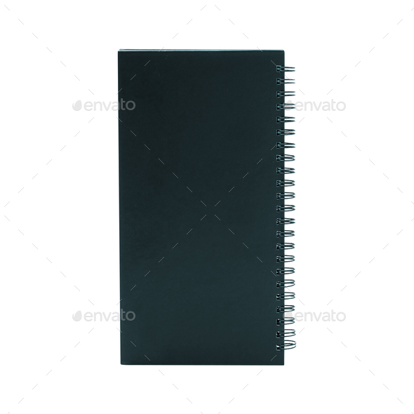 Notebook isolated on white background - Stock Photo - Images
