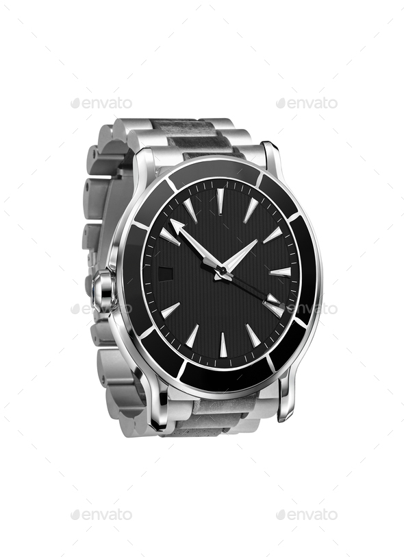 Watch Isolated on white background - Stock Photo - Images