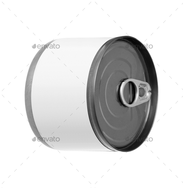 Metal can isolated on white - Stock Photo - Images