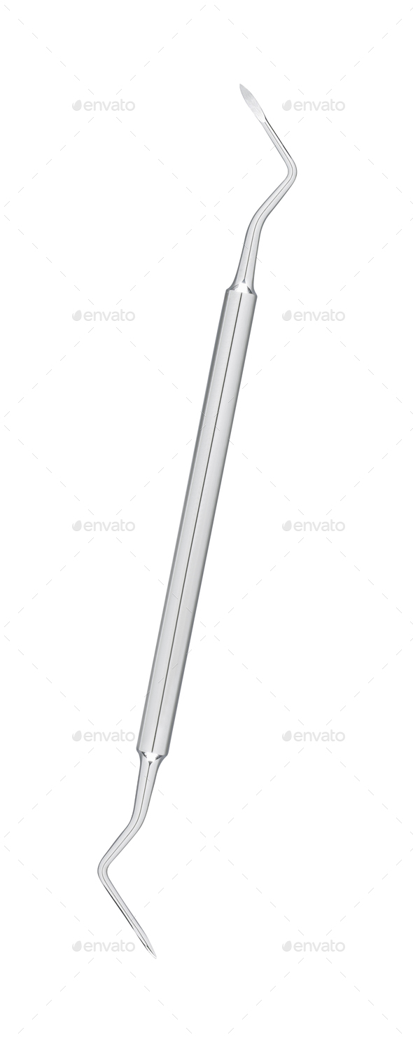 Dental instrument isolated on white - Stock Photo - Images